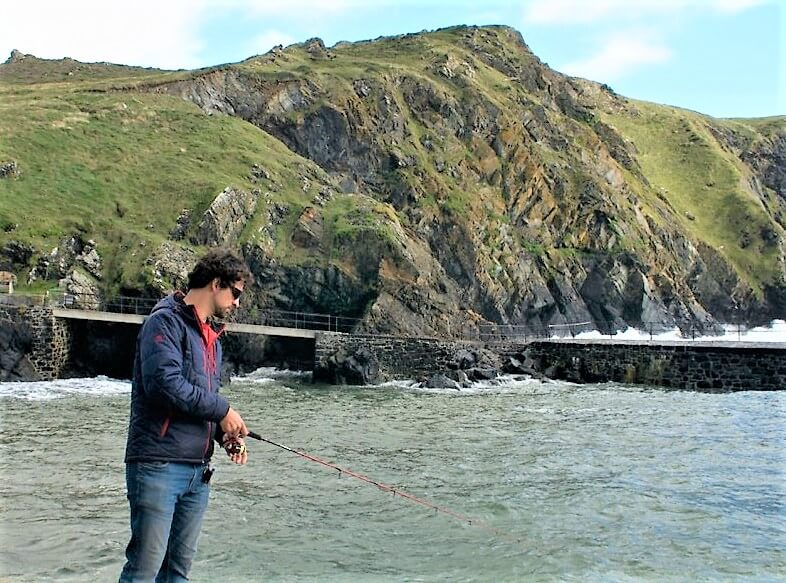 Sea fishing Mullion Cove Dom Garnett